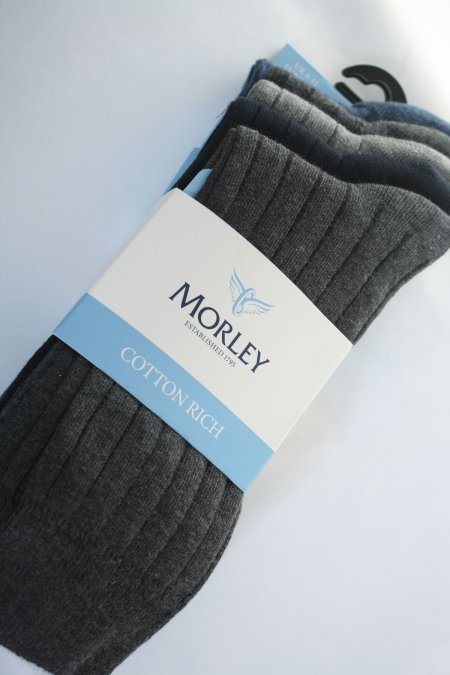 Morley Cotton 5 Pair Pack Rib Socks
