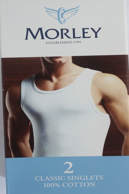 Morley Pure Cotton Singlet in White