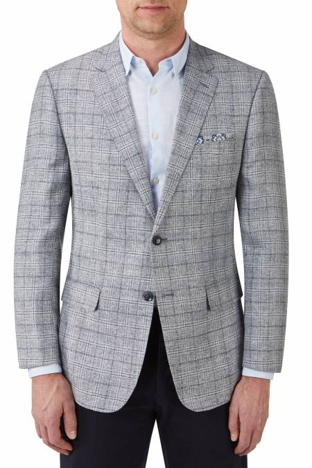 Moses Tailored Fit Linen Mix Jacket