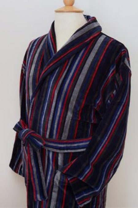 New York 100% Cotton Velour Dressing Gown