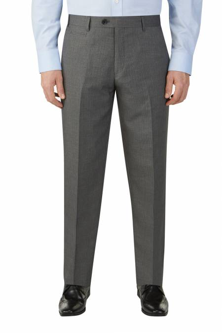 Pedley Suit trouser in Grey Hairline Stripe