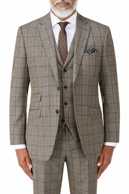 Pershore Suit Jacket in Brown Check