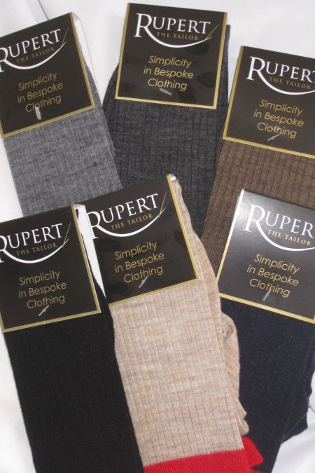 Rupert the Tailor Red Top Long Socks British Made