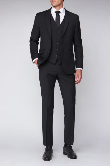 Tailored fitted washable 2 button Performance suit - Suits for large men