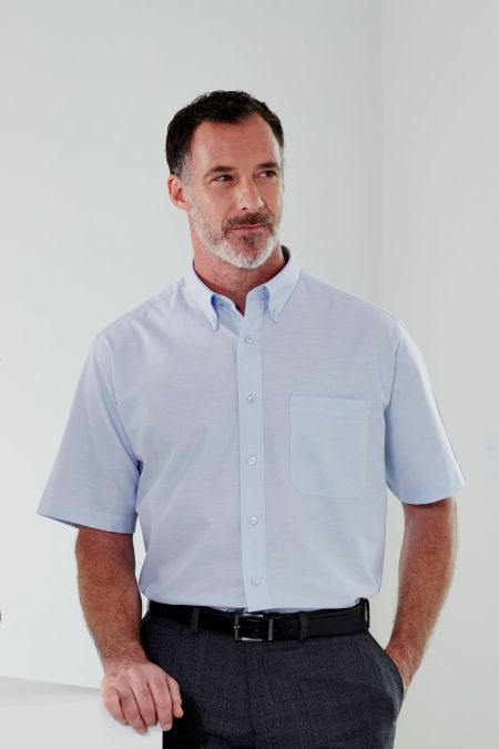 Short Sleeve Non-Iron Oxford Shirt in 2 colours