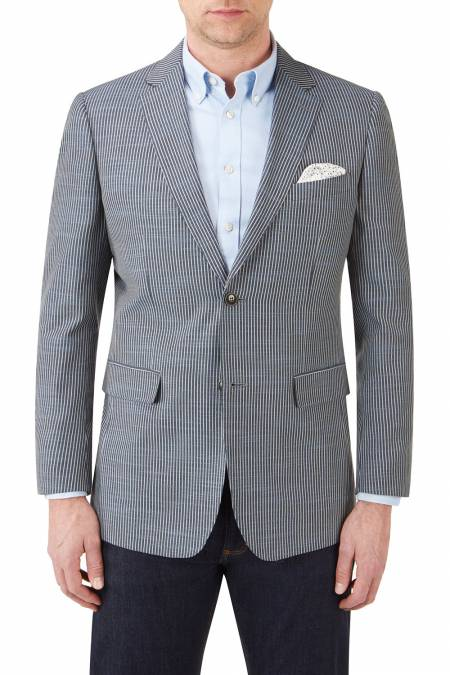 Skopes Palgrave Blue Grey Stripe Jacket