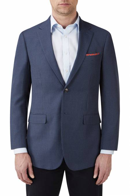 Skopes Tristan Blue Check Jacket