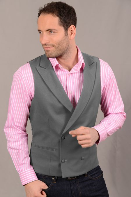 Slim fit Earl Double Breasted Waistcoat.