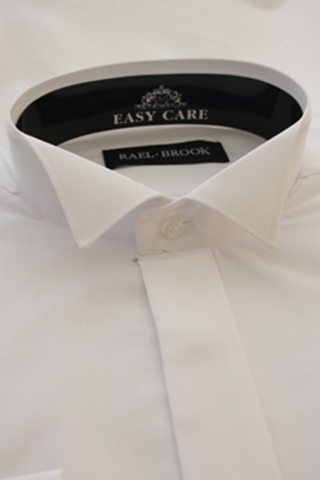 Slim fit Winged Collar White Shirt