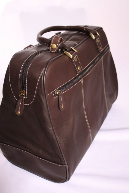 Soft  Leather Men's Travel Bag