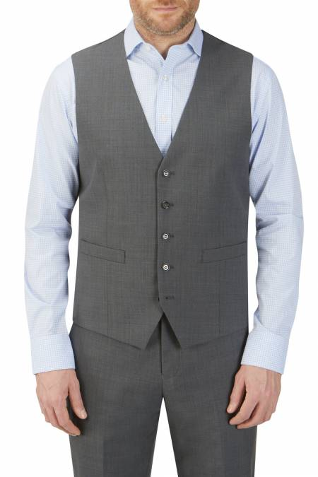 Sterland Charcoal Suit Waistcoat