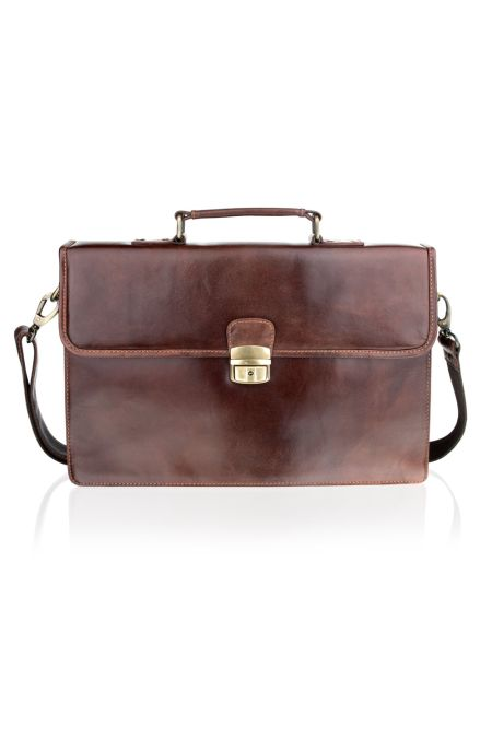Superior Soft Hide Satchel Briefcase