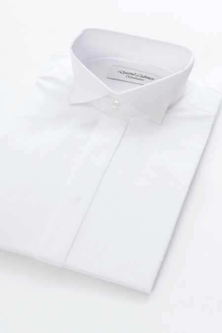 Swept wing collar Double Cuff White