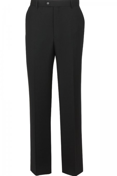 The Label Black Herringbone Trousers