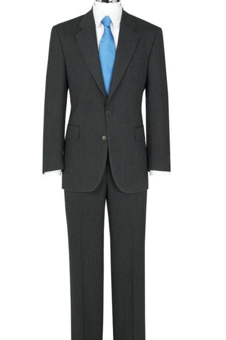 The Label Herringbone Suit - Suits for large men