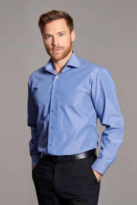 Trillick Fine Stripe Long Sleeve Business Shirts