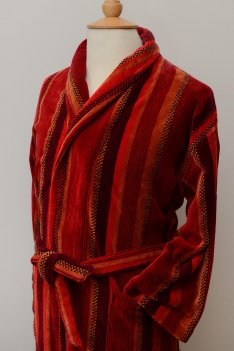 Venezia Luxury Gold Label Velour Cotton Dressing Gown