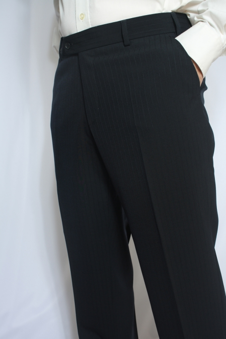 Visconti Style Navy Suit Trousers from Douglas and Grahame