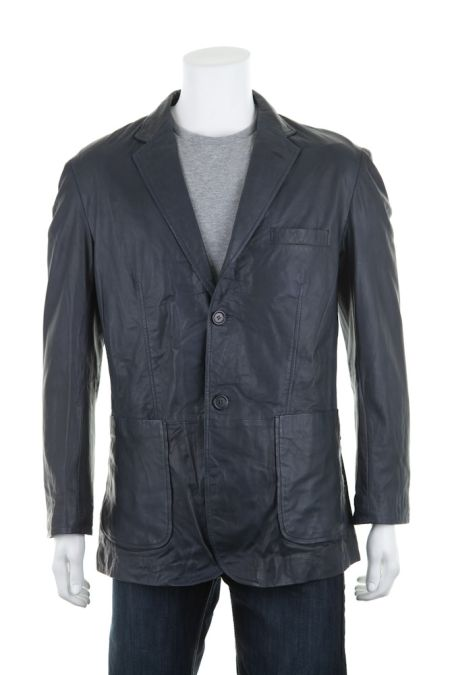 Woodland Leather 2 Button Blazer