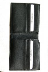 Black leather wallet.