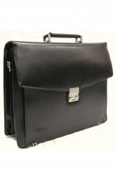 Bonded Leather Satchel Briefcase