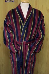Boston Red Velour Dressing Gown