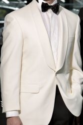 Cream Shawl Collar Dinner Suit