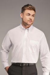 Disley Plain Button Down Collar Long Sleeve