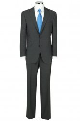 Grey herringbone Suit by The Label