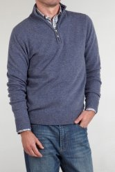 Lambswool Sweater with Zip Neck