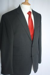 Douglas Visconti Style Self Stripe Suit