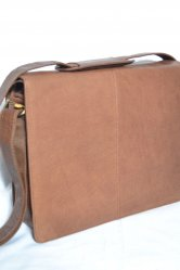 Woody Brown Messenger Bag