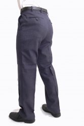 Wool blend Plain front Trouser